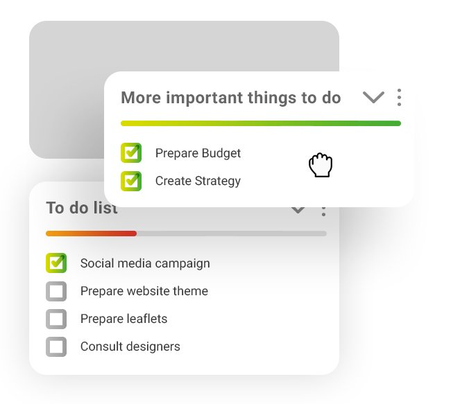 Illustration showing changing order of Todo lists