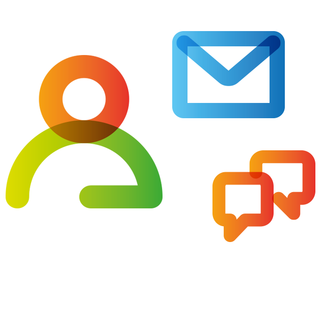 People, email and conversation icons