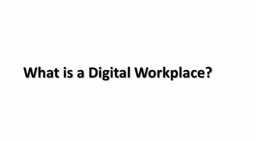 Logo for interview series - What is a Digital Workplace